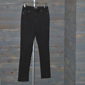 Women's Earl Jean Black Denim Rhinestone Pants, 6